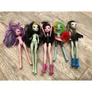 5 Monster High Ever After Dolls Mixed Lot Colored